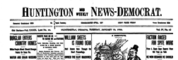 Huntington Mid Weekly News Democrat newspaper archives