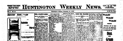 Huntington Weekly News newspaper archives