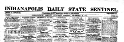 Indianapolis Daily State Sentinel newspaper archives