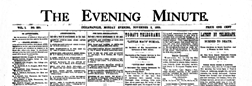 Indianapolis Evening Minute newspaper archives