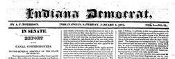 Indianapolis Indiana Democrat newspaper archives