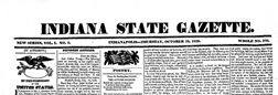 Indianapolis Indiana State Gazette newspaper archives