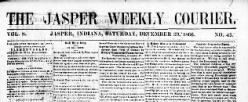 Jasper Weekly Courier newspaper archives