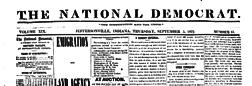 Jeffersonville National Democrat newspaper archives