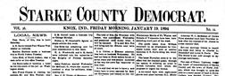 Knox Starke County Democrat newspaper archives