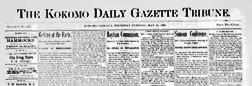 Kokomo Daily Gazette Tribune newspaper archives