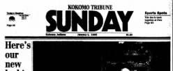 Kokomo Tribune Sunday newspaper archives