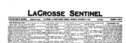 La Crosse Sentinel newspaper archives
