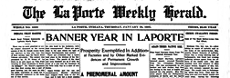 La Porte Weekly Herald newspaper archives