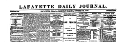 Lafayette Daily Journal newspaper archives