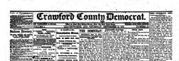 Leavenworth Crawford County Democrat newspaper archives