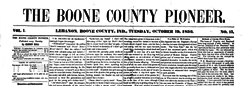Lebanon Boone County Pioneer newspaper archives