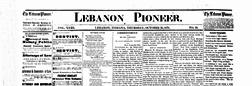 Lebanon Pioneer newspaper archives