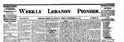Weekly Lebanon Pioneer newspaper archives