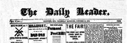 Ligonier Daily Leader newspaper archives