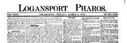 Logansport Pharos newspaper archives