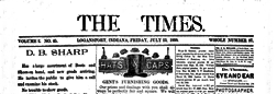 Logansport Times newspaper archives