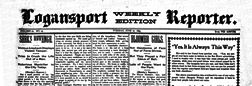 Logansport Weekly Reporter newspaper archives