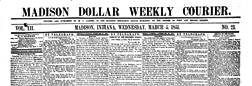 Madison Dollar Weekly Courier newspaper archives