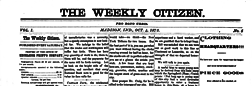 Madison Weekly Citizen newspaper archives