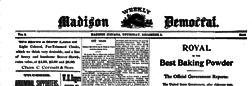 Madison Weekly Democrat newspaper archives