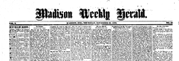 Madison Weekly Herald newspaper archives