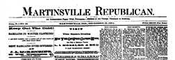 Martinsville Republican newspaper archives