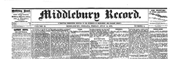 Middlebury Record newspaper archives