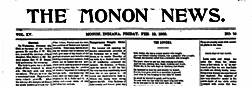 Monon News And Review newspaper archives
