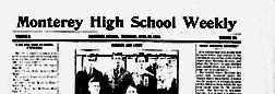 Monterey High School Weekly newspaper archives