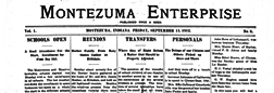 Montezuma Enterprise newspaper archives
