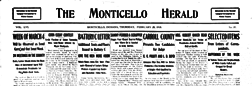 Monticello Herald newspaper archives