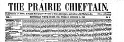 Monticello Prairie Chieftain newspaper archives