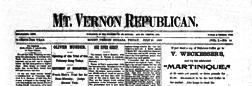 Mount Vernon Republican newspaper archives