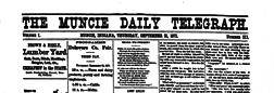 Muncie Daily Telegraph newspaper archives