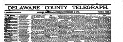 Muncie Delaware County Telegraph newspaper archives