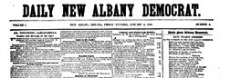 Daily New Albany Democrat newspaper archives