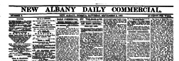New Albany Daily Commercial newspaper archives