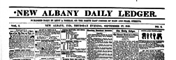 New Albany Daily Ledger newspaper archives