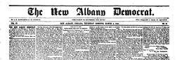 New Albany Democrat newspaper archives