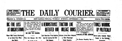 New Castle Daily Courier newspaper archives