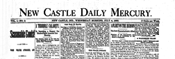 New Castle Daily Mercury newspaper archives