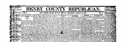 New Castle Henry County Republican newspaper archives