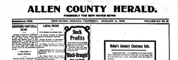 New Haven Allen County Herald newspaper archives