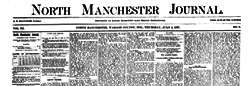 North Manchester Journal newspaper archives