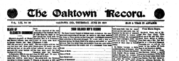 Oaktown Record newspaper archives