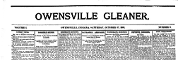 Owensville Gleaner newspaper archives