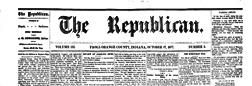 Paoli Republican newspaper archives