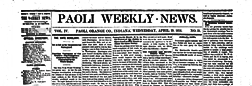 Paoli Weekly News newspaper archives