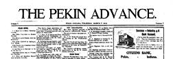 Pekin Advance newspaper archives